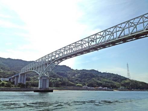 早瀬大橋 倉橋島からの様子3