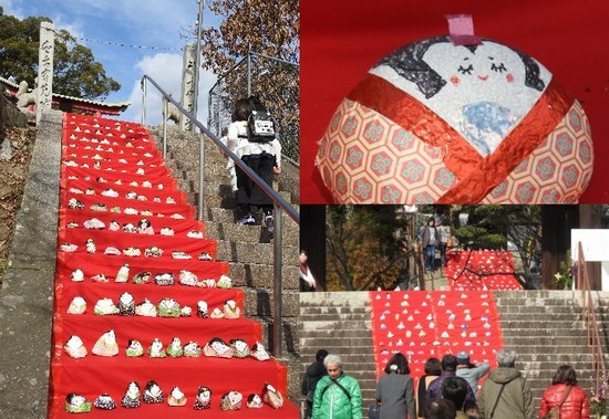 階段にズラリ1000体「石の雛飾り」街を彩る三原のひな祭り!