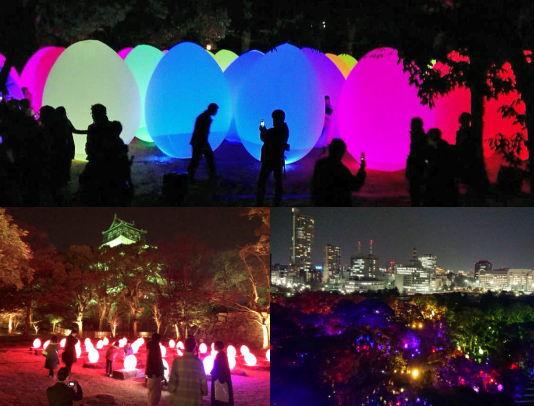 広島城がチームラボの光のアートで包まれる!広島のお絵描き武将も踊りだす