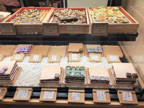 カカオ果 五日市本店  チョコレートのショーケース