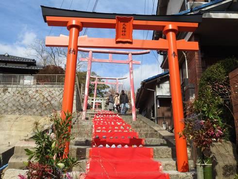 大島神社 階段入り口