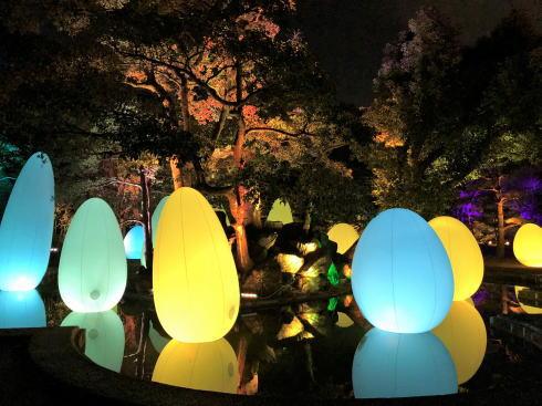 「チームラボ 広島城 光の祭」開催時の写真4