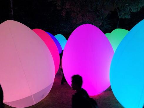 「チームラボ 広島城 光の祭」開催時の写真5