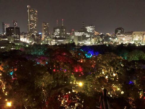 「チームラボ 広島城 光の祭」開催時の写真11