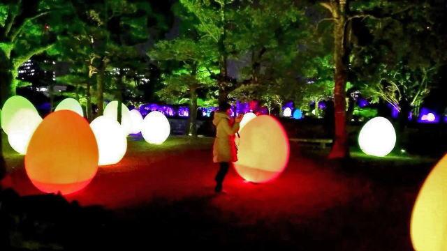 「チームラボ 広島城 光の祭」開催時の写真