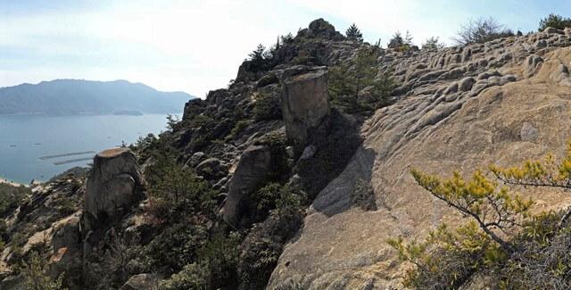 天狗岩(広島県江田島市・能美島)の風景