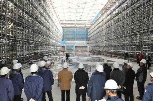 福山市総合体育館 工事現場公開時の様子