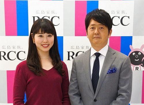 RCC「NEWS6」では、中根夕希アナウンサーがメインMCに