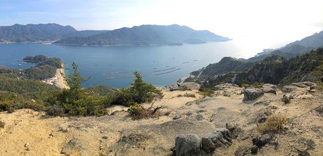 追の浦渓谷・丈ノ内展望所からのパノラマ風景