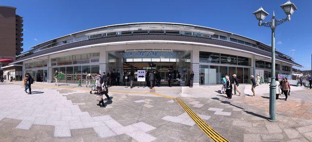 生まれ変わった、JR尾道駅