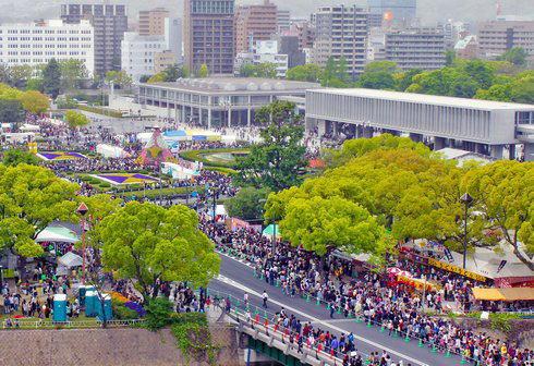 ひろしまフラワーフェスティバル 俯瞰写真