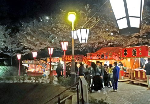 尾道 千光寺公園の屋台