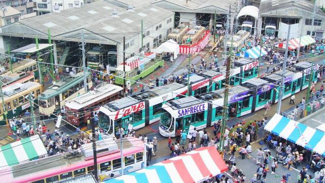広島電鉄 路面電車まつり2019、車両展示や体験コーナー・中古部品販売も