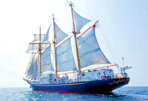 尾道港に帆船「みらいへ」乗船・ライトアップも!しまなみ海道 開通20周年イベントで