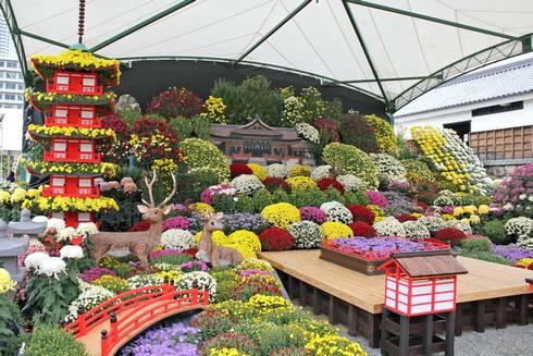 二の丸 広島城菊花展