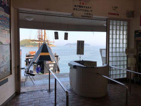 福山市営渡船場 平成いろは丸の乗り場入口