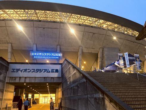 エディオンスタジアム広島にサンチェくんマンホール