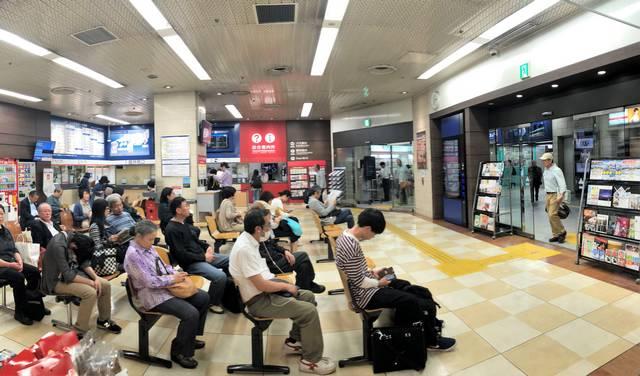 広島バスセンター 待合室