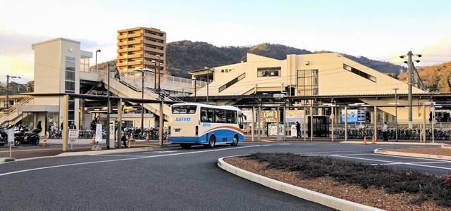海田市駅 南口から見た駅舎