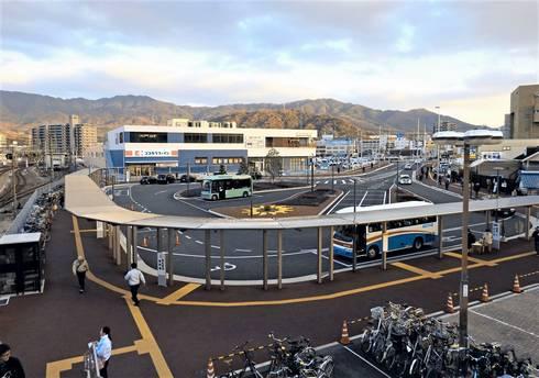 海田市駅 南口・駅前のロータリー(現在)