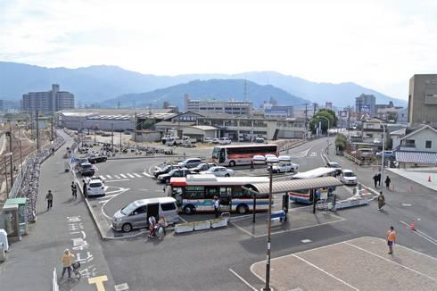 海田市駅 南口・駅前のロータリー(以前)