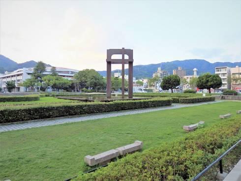 呉市役所 庁舎裏の公園