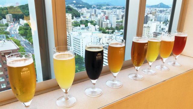 地上100mの涼しい屋内型ビアホール!オリエンタルホテル広島で「クラフトビール」飲み比べ