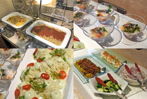 オリエンタルホテル広島、桃のスイーツブッフェには冷製パスタやピラフなど軽食も
