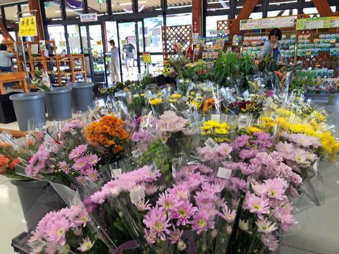 八千代産直市場の生花コーナー