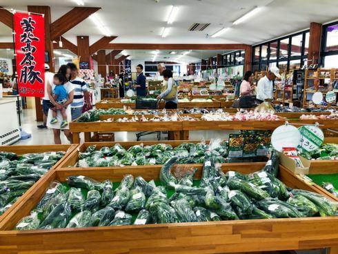 八千代産直市場(広島県安芸高田市)の朝採れ野菜
