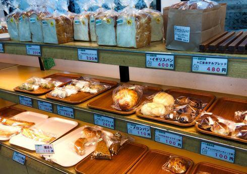 八千代産直市場のベーカリー、パンも人気