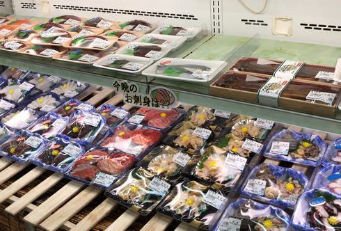 お刺身など鮮魚コーナーも、八千代産直市場