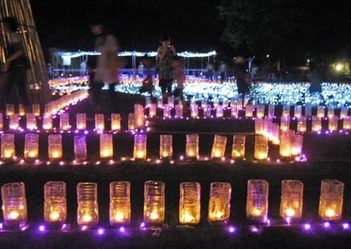 花と光のページェント2019、広島市植物公園でキャンドルライトアップ