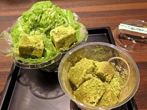 宮島の抹茶スイーツ処 茶和々(さわわ)、わらび餅に夏季はふわふわ雪氷も