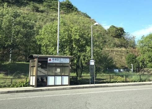 高坂PA上り線(バス停もあり)