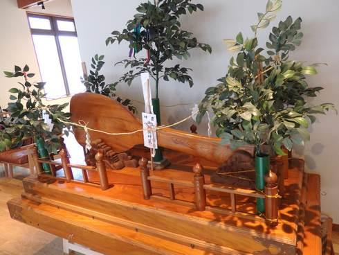 TOTO宮島おもてなしトイレ2Fに、小さな杓子展示も