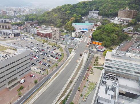 広島高速5号線 上から見た様子