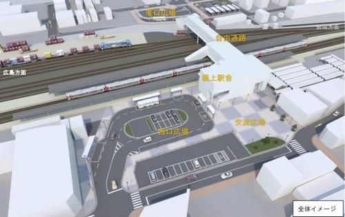 大竹駅の工事は2019冬着工、完成は2020年末を目指す