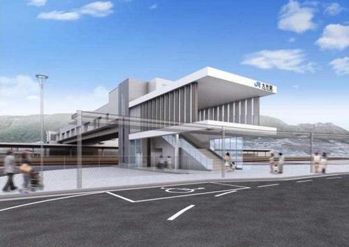 大竹駅の新駅舎 東側イメージ図