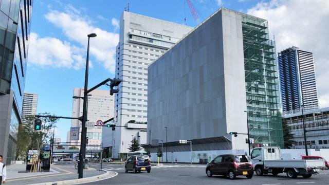 広島駅北の新ホテル「ヴィアイン広島新幹線口」 建設が進む風景