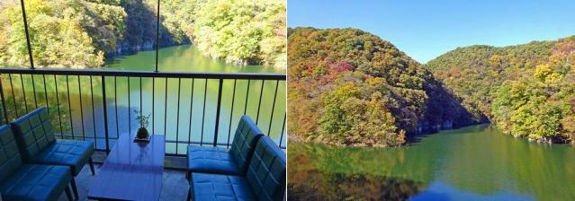 カフェ・ド・帝釈峡 テラス席から見る景色テラス席から見る景色