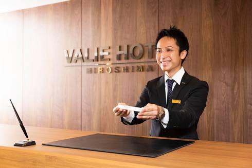 ヴァリエホテル広島 ロビーの受付