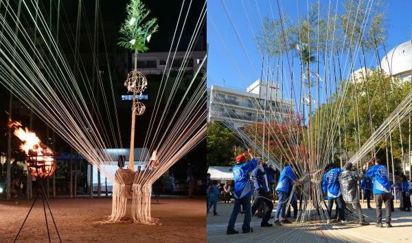 大イノコ祭り、広島・袋町公園で開催