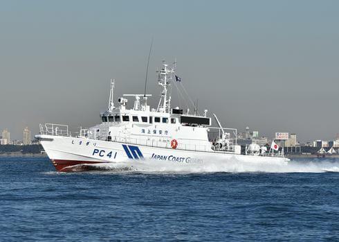 広島の巡視艇「しまぎり」