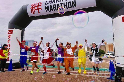 台風19号や西日本豪雨の被災地を支援!広島で「絆チャリティーリレーマラソン」