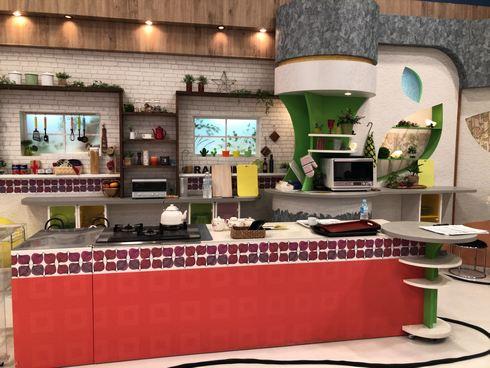 RCCテレビ「イマナマ!」料理コーナーのスタジオセット