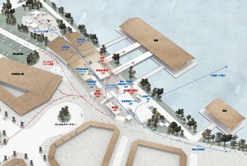 厳島港の具体的なデザインが発表される