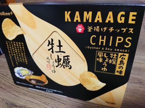 広島限定 釜揚げチップス 牡蠣しょうゆ味 画像