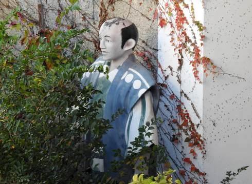 尾道城の門番、人形が…