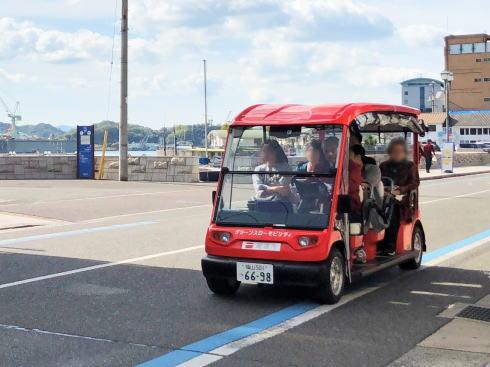 尾道グリーンスローモビリティ、観光の足になってくれる無料バス